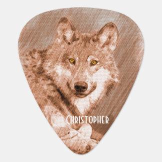 La imagen del bosquejo del lápiz del lobo plectro