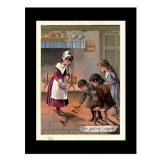 La imagen del libro de niños del vintage de la postal