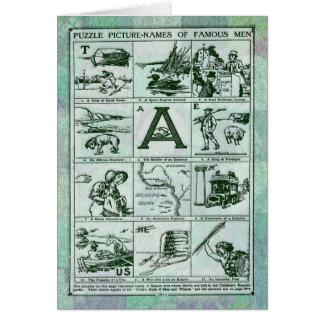 La imagen del rompecabezas nombra la tarjeta de fe