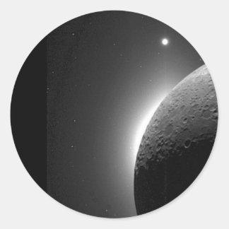 La imagen magnífica de la NASA, la luna se Pegatina Redonda