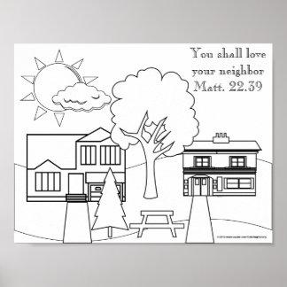 La imagen principal del colorante - ame a su vecin póster