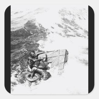 La imagen rescuing_War de U.S.S. Queenfish Pegatina Cuadrada