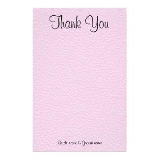 La imagen rosada del cuero, casandose le agradece papelería personalizada