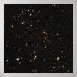 La imagen ultra profunda del espacio del campo de  impresiones