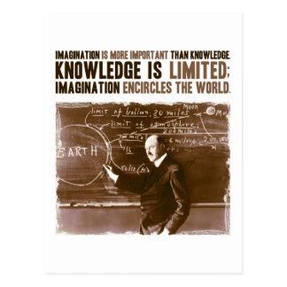 La imaginación es más importante que conocimiento postal