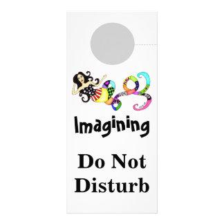 La imaginación no perturba musa de la sirena lona personalizada