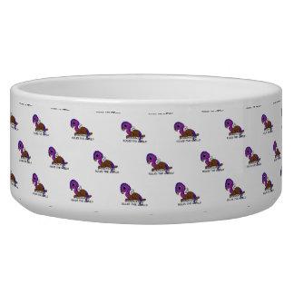 La imaginación púrpura y azul de Squite gobierna Tazón Para Perro