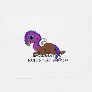 La imaginación púrpura y azul de Squite gobierna Mantas De Bebé