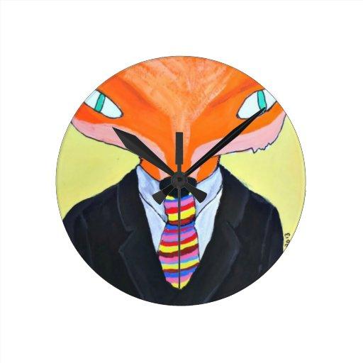 La importancia de Sr. Fox - por PaperTrees Reloj Redondo Mediano