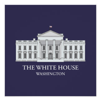 La impresión arquitectónica de la Casa Blanca Póster