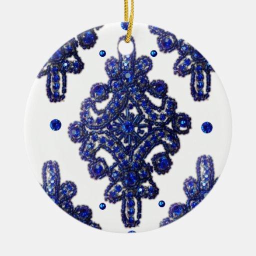 La impresión azul del modelo de la joya añade el ornamentos para reyes magos