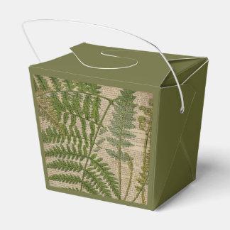 la impresión botánica del vintage sale del helecho caja para regalos