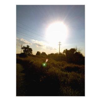 La impresión de la foto de Sun de la cosecha