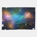 La impresión de la galaxia protagoniza el modelo c toallas de mano