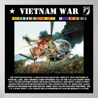 La impresión de la guerra de Vietnam Póster