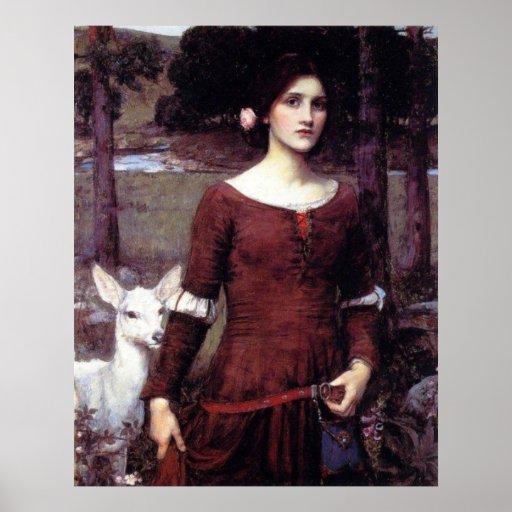 La impresión de la lona de señora Clare Póster