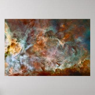 La impresión de la nebulosa de Carina Posters