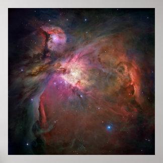 La impresión de la nebulosa de Orión Posters