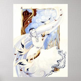 La impresión de la reina del cisne impresiones