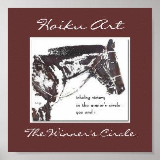 La impresión del arte del Haiku del círculo del ga Poster