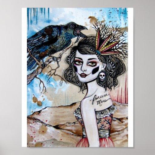 La impresión del cuervo póster