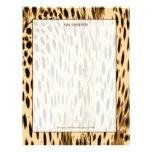 La impresión del guepardo, se ruboriza fondo membrete a diseño