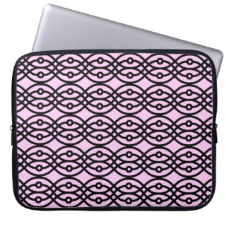 La impresión del kimono, hiela rosa y negro fundas portátiles