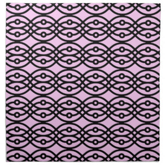 La impresión del kimono, hiela rosa y negro servilletas de papel