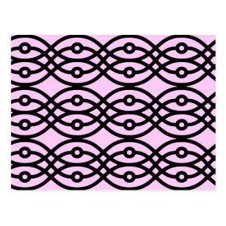 La impresión del kimono, hiela rosa y negro postales