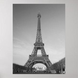 La impresión del poster de la torre Eiffel