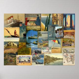 La impresión del viaje magnífico póster