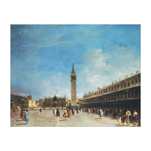 La impresión estirada Venecia de la lona de San Ma Impresión En Lona Estirada