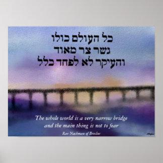 La impresión estrecha de la lona del puente posters