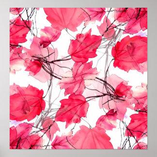 La impresión floral remolina diseño decorativo