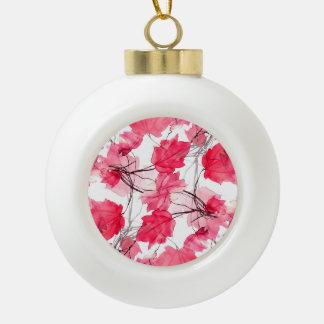 La impresión floral remolina diseño decorativo adorno de cerámica en forma de bola