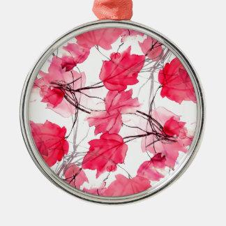 La impresión floral remolina diseño decorativo adorno navideño redondo de metal