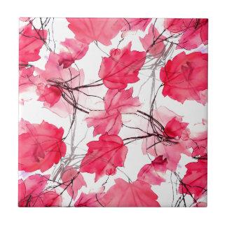La impresión floral remolina diseño decorativo azulejo cuadrado pequeño