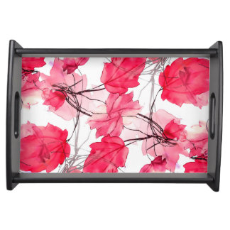 La impresión floral remolina diseño decorativo bandejas