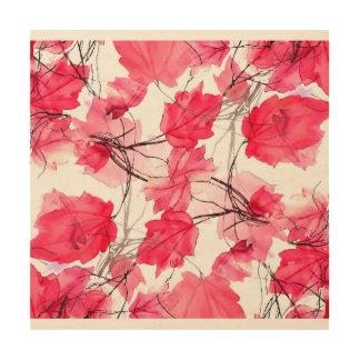 La impresión floral remolina diseño decorativo cuadros de madera