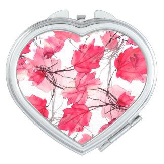 La impresión floral remolina diseño decorativo espejos para el bolso