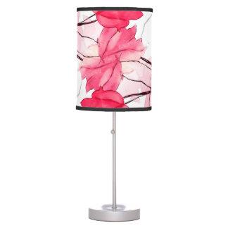 La impresión floral remolina diseño decorativo lámpara de mesa
