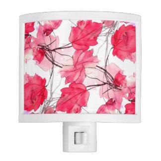 La impresión floral remolina diseño decorativo lámpara de noche