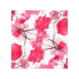 La impresión floral remolina diseño decorativo lona envuelta para galerias