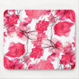 La impresión floral remolina diseño decorativo mousepad