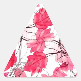 La impresión floral remolina diseño decorativo pegatina triangular