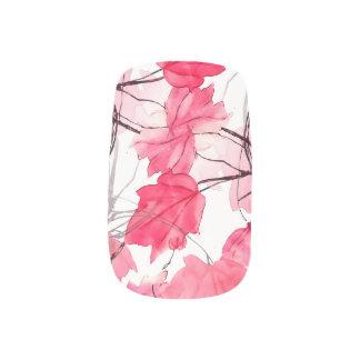La impresión floral remolina diseño decorativo pegatinas para manicura