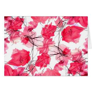 La impresión floral remolina diseño decorativo tarjeta de felicitación