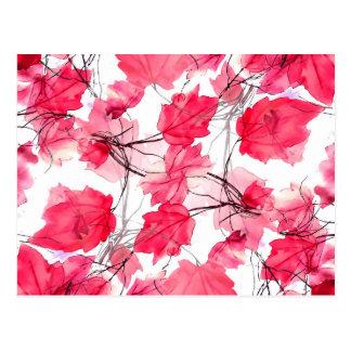 La impresión floral remolina diseño decorativo tarjeta postal