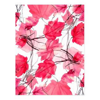 La impresión floral remolina diseño decorativo tarjetas postales