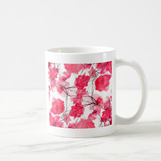 La impresión floral remolina diseño decorativo taza básica blanca